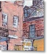 View From Cafe Du Monde Metal Print