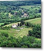 View From Castello Vicchiomaggio Metal Print