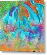 View From Central Park Abstract Painting Metal Print