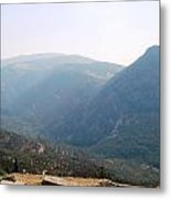 View From Delphi Metal Print