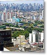 View From Edificio Martinelli 2 - Sao Paulo Metal Print