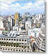 View From Edificio Martinelli - Sao Paulo Metal Print