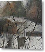 View From Foggy Window Metal Print