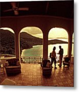 View From Hawks Nest Villa In Virgin Islands Metal Print