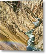 View From Lower Falls Of The Yellowstone River  Metal Print