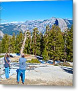 View From Near The Top Of Sentinel Dome In Yosemite Np-ca Metal Print