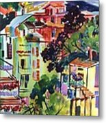 View From Our Hotel Window Cinque Terre Metal Print