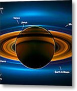 View From Saturn By Nasa's Cassini Spacecraft Metal Print