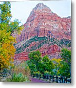 View From South Campground In Zion Np-ut Metal Print