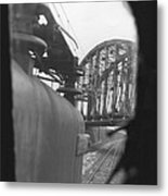 View From The Cab Of A Gg1 Metal Print