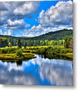 View From The Green Bridge In Old Forge Ny Metal Print