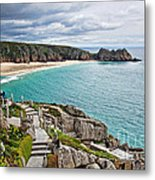 View From The Minack Theatre Metal Print