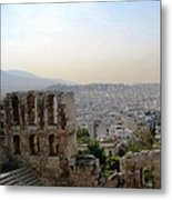 View From The Parthenon Metal Print