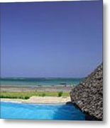 View From The Pool Metal Print
