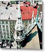 View From The Top Of Munich City Hall Metal Print