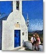 View From The Top Of Serifos Island Metal Print by George Atsametakis
