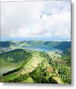 View From The Top Of Sete Cidades Metal Print