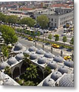 View From The Valens Aqueduct In Istanbul Metal Print