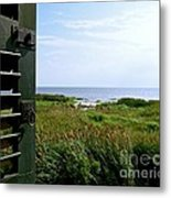 View From The Window At East Point Light Metal Print