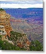 View From Walhalla Overlook On North Rim Of Grand Canyon-arizona  Metal Print