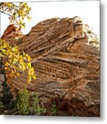 View From Zion-mount Carmel Highway In Zion Np-ut Metal Print
