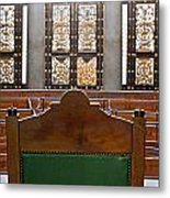 View Into Courtroom From Judges Chair Metal Print
