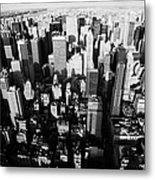 View North And Down Towards Central Park From Empire State Building Metal Print