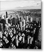 View North East Of Manhattan Queens East River From Empire State Building Metal Print by Joe Fox
