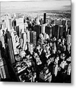 View North East Of Manhattan Queens East River From Observation Deck Empire State Building Metal Print by Joe Fox