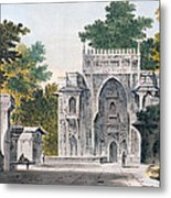 View Of A Mosque At Chunar Gur Metal Print by William Hodges