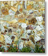 View Of A Stone Wall Metal Print