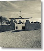 View Of Abandoned Church Gate Metal Print