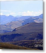 View Of Absaroka Mountains From Mount Washburn In Yellowstone National Park Metal Print