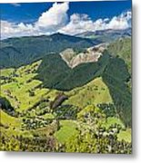 View Of Arthur Range In Kahurangi Np Of New Zealand Metal Print