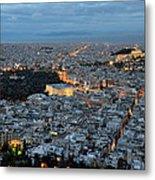 View Of Athens During Dawn Metal Print