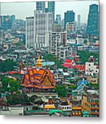 View Of Bangkok Buildings From Grand China Princess Hotel In Bangkok-thail Metal Print