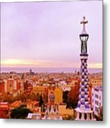 View Of Barcelona Metal Print by Maeve O Connell