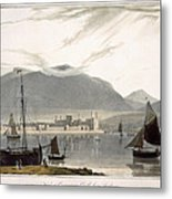 View Of Caenarvon Castle From Anglesea Metal Print