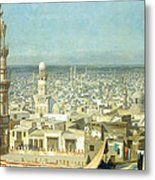 View Of Cairo Metal Print by Jean Leon Gerome