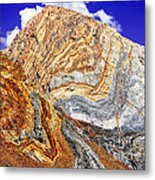 View Of Cliffs From Convict Lake Metal Print by Bob and Nadine Johnston
