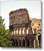 View Of Colosseum Metal Print