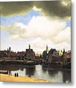View Of Delft Vermeer Metal Print