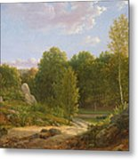 View Of Fontainebleau Forest, 1829 Oil On Canvas Metal Print