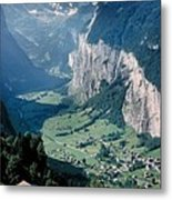 Amazing View Of Swiss Valley Metal Print