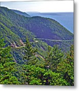 View Of Highlands Road From Skyline Trail In Cape Breton Highlands Np-ns Metal Print