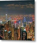 View Of Hong Kong From The Peak Metal Print by Lars Ruecker