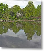 View Of Japanese Garden, Wroclaw, Poland Metal Print