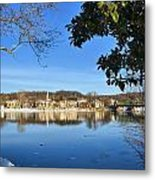 View Of Lambertville Nj From New Hope Pa-winter 1  Metal Print