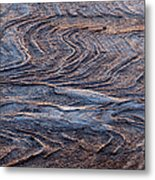 View Of Landscape From Above, Port Metal Print