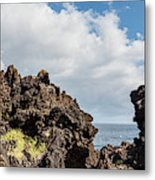 View Of Lava Rock On The Coast, Pico Metal Print